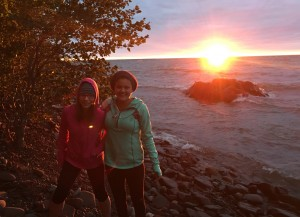 Althea & Jenna sunset crop