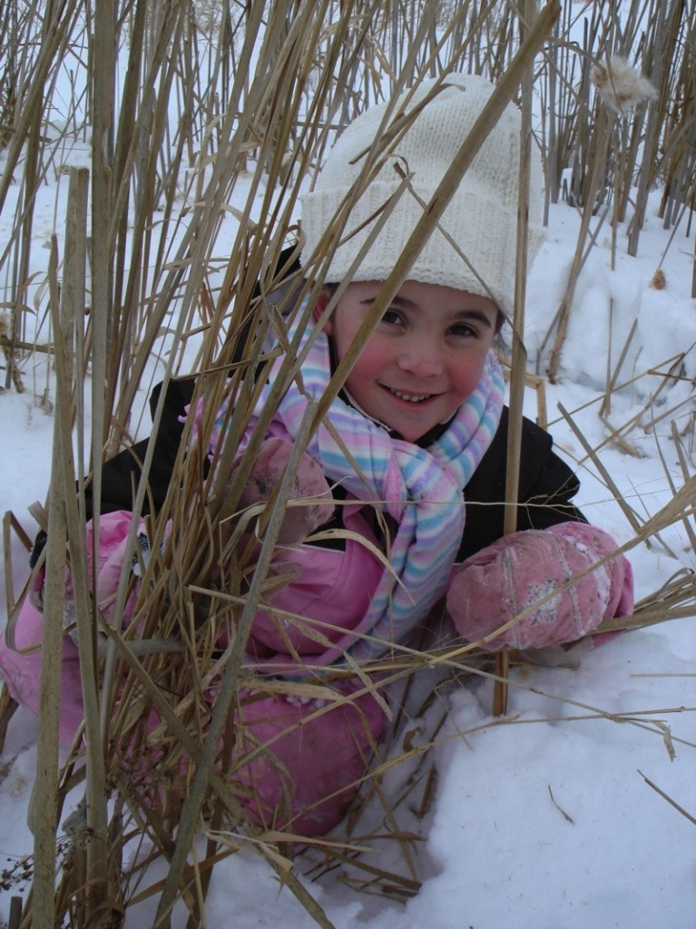 Emily in the Cattails Close Up