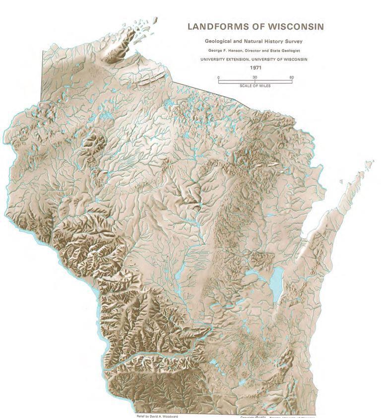Landforms of WI compressed