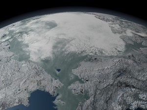 north pole sea ice